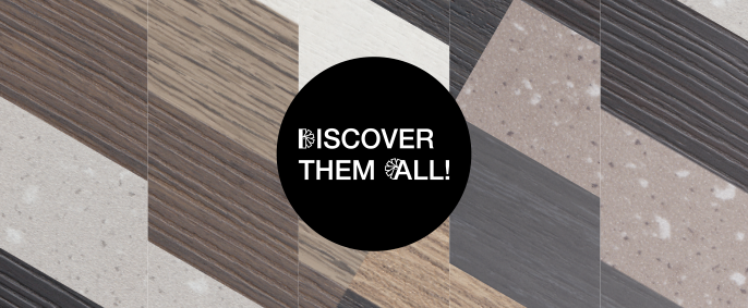 Discover our complete collection of edges for trendy FunderMax laminated boards